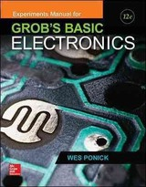 Experiments Manual For Use With Grob's Basic Electronics - Ponick, Wes - ISBN: 9781259190407