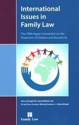 International Issues In Family Law - Wright, Maria; Setright, Henry; Williams, David; Curry-sumner, Ian; Gration, Michael - ISBN: 9781784731526