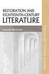 Restoration And Eighteenth-century Literature - Mathison, Hamish - ISBN: 9780748623778