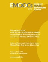 Proceedings Of The European Stakeholder Summit On Experiences And Best Practices In And Around Moocs (emoocs 2016) - Khalil, Mohammad - ISBN: 9783739237107