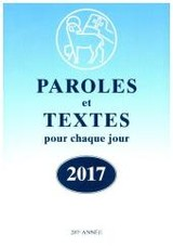 Paroles et Textes 2017 - ISBN: 9783724521396