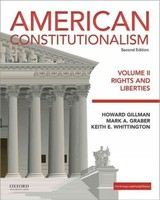 American Constitutionalism - Whittington, Keith E.; Graber, Mark; Gillman, Howard - ISBN: 9780190299484