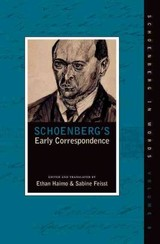 Schoenberg's Early Correspondence - Haimo, Ethan; Feisst, Sabine - ISBN: 9780195383720