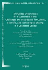 Knowledge Organization for a Sustainable World: Challenges and Perspectives for Cultural, Scientific, and Technological Sharing in a Connected Society - ISBN: 9783956502217