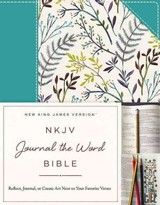 Nkjv, Journal The Word Bible, Cloth Over Board, Blue Floral, Red Letter Edition - Thomas Nelson - ISBN: 9780718088644