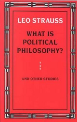 What Is Political Philosophy? - Strauss, Leo - ISBN: 9780226777139