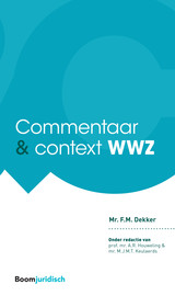 Commentaar & Context WWZ - F.M. Dekker - ISBN: 9789462902282