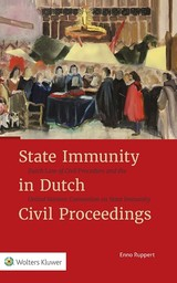 State Immunity in Dutch Civil Proceedings - ISBN: 9789013141740