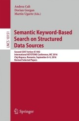 Semantic Keyword-based Search On Structured Data Sources - Calì, Andrea (EDT)/ Gorgan, Dorian (EDT)/ Ugarte, Martin (EDT) - ISBN: 9783319536392
