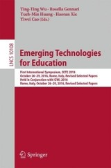 Emerging Technologies For Education - Wu, Ting-ting (EDT) - ISBN: 9783319528359