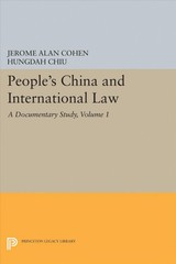 People's China And International Law, Volume 1 - Cohen, Jerome Alan; Chiu, Hungdah - ISBN: 9780691618692