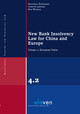 New Bank Insolvency Law For China And Europe - Wessels, Bob - ISBN: 9789462367371