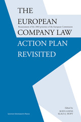 The European company law action plan revisited - ISBN: 9789461660084