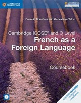 Cambridge Igcse (r) And O Level French As A Foreign Language Coursebook With Audio Cds (2) - Talon, Genevieve; Bourdais, Daniele - ISBN: 9781316623589