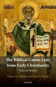 Biblical Canon Lists From Early Christianity - Gallagher, Edmon L.; Meade, John D. - ISBN: 9780198792499