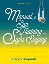 Manual For Ear Training And Sight Singing - Karpinski, Gary S. (university Of Massachusetts, Amherst) - ISBN: 9780393264265