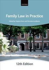 Family Law In Practice 12e Paperback - The City Law School - ISBN: 9780198754749