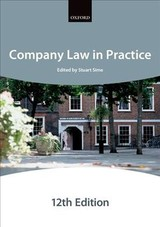 Company Law In Practice 12e Paperback - , The City Law Schoo - ISBN: 9780198787723