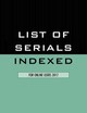 List Of Serials Indexed For Online Users 2017 - (NA) - ISBN: 9781598889581