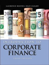 Introduction To Corporate Finance - Booth, Laurence; Cleary, Sean - ISBN: 9781118300763