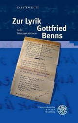 Zur Lyrik Gottfried Benns - Dutt, Carsten - ISBN: 9783825351953