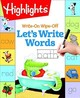 Write-On Wipe-Off Let's Write Words - Highlights (COR) - ISBN: 9781629799230