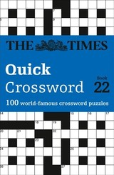 Times Quick Crossword Book 22 - The Times Mind Games; Grimshaw, John - ISBN: 9780008241292