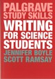 Writing For Science Students - Boyle, Jennifer - ISBN: 9781137571519