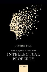 Subject Matter Of Intellectual Property - Pila, Justine (senior Law Tutor And Fellow, St. Catherine's College, Oxford) - ISBN: 9780199688616