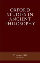 Oxford Studies Ancient Philosophy - ISBN: 9780198815662