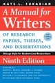 A Manual For Writers Of Research Papers, Theses, And Dissertations - Turabian, Kate L./ Booth, Wayne C. (EDT)/ Colomb, Gregory G. (EDT)/ Williams, Joseph M. (EDT)/ Bizup, Joseph (EDT) - ISBN: 9780226430577