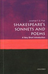 Shakespeare's Sonnets And Poems: A Very Short Introduction - Post, Jonathan F. S. (distinguished Professor Of English, Ucla) - ISBN: 9780198717577