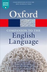 Oxford Companion To The English Language - McArthur, Tom (EDT)/ Lam-mcarthur, Jacqueline (EDT)/ Fontaine, Lise (EDT) - ISBN: 9780199661282