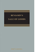 Benjamin's Sale Of Goods - Michael Bridge - ISBN: 9780414063969