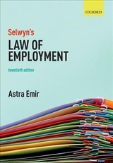 Selwyn's Law Of Employment - Emir, Astra (barrister-at-law) - ISBN: 9780198814849