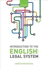 Introduction To The English Legal System 2018-19 - Partington, Martin (emeritus Professor Of Law And Senior Research Fellow, University Of Bristol) - ISBN: 9780198818861