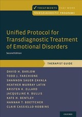 Unified Protocol For Transdiagnostic Treatment Of Emotional Disorders - Barlow, David H. (professor Of Psychology And Psychiatry, Founder And Director Emeritus, Center For Anxiety And Related Disorders, Boston University); Farchione, Todd J. (director, Intensive Program, Assistant Director, Unified Treatment Program, And Research Assistant Professor, Center For Anxiety And Related Disorders, Boston University); Sauer-zavala, Shannon (director, Unified Protocol Institute, Center For Anxiety And Related Disorders, Boston University); Murray Latin, Heather (research Assistant Professor, Boston University); Ellard, Kristen K. (clinical Fellow In Psychology, Department Of Psychiatry, Bipolar Clinic And Research Program, Massachusetts General Hospital); Bullis, Jacqueline R. (instructor, Department Of Psychiatry At Harvard Medical School); Bentley, Kate H. (clinical Fellow In Psychology, Massachusetts General Hospital/harvard Medical School); Boettcher, Hannah T. (predoctoral Intern, Va Medical Center, Lexington, Kentucky); Cassiello-robbins, Clair (advanced Doctoral Student, Boston Univeristy) - ISBN: 9780190685973