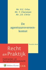 De agentuurovereenkomst - ISBN: 9789013145939