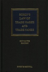 Kerly's Law Of Trade Marks And Trade Names - Keeling, David; Llewelyn, David - ISBN: 9780414052017