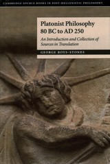 Platonist Philosophy 80 Bc To Ad 250 - Boys-stones, George (professor, Durham University) - ISBN: 9780521838580