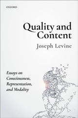 Quality And Content - Levine, Joseph (university Of Massachusetts Amherst) - ISBN: 9780198800088