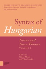 Syntax of Hungarian - ISBN: 9789048532742