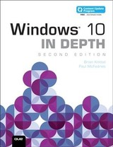 Windows 10 In Depth (includes Content Update Program) - Knittel, Brian; Mcfedries, Paul - ISBN: 9780789759771