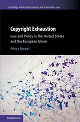 Cambridge Intellectual Property And Information Law - Mezei, Peter - ISBN: 9781107193680