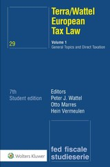European Tax Law - Otto Marres; Peter J. Wattel; Hein Vermeulen - ISBN: 9789013133592