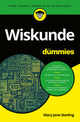 Wiskunde voor Dummies - Mary Jane  Sterling - ISBN: 9789045355610