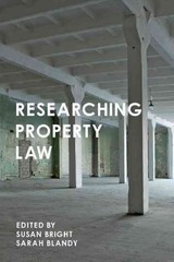 Researching Property Law - Blandy, Sarah; Bright, Susan - ISBN: 9781137487896