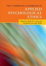 Cambridge Handbook Of Applied Psychological Ethics - Leach, Mark M. (EDT)/ Welfel, Elizabeth Reynolds (EDT) - ISBN: 9781107561939