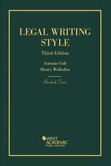 Legal Writing Style - Weihofen, Henry; Gidi, Antonio - ISBN: 9781634592963
