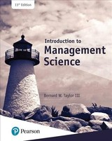 Introduction To Management Science - Taylor, Bernard W. - ISBN: 9780134730660
